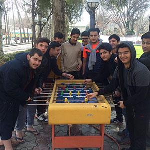 بازی فوتبال در اردو